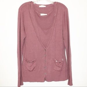 Soft Surroundings Mauve Sweater Set